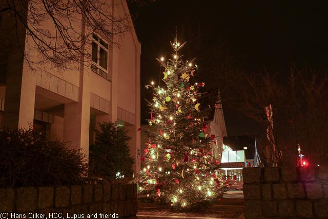 Verl mit Weihnachtsbeleuchtung