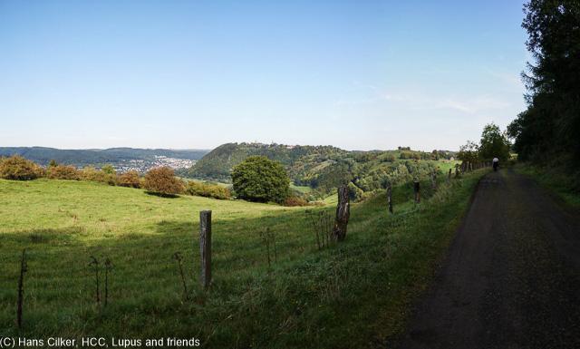 Wir starteen am Waldparkplatz und laufen erst mal Strasse, dann aber Waldroute und nach 4 km gibt es tolle Blicke auf Obermarsberg. Durch das marode Marsberg geht es den Hügel rauf, wieder der weg falsch im GPS.
